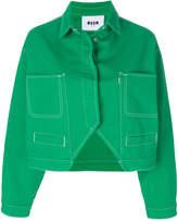 MSGM cut-out denim jacket