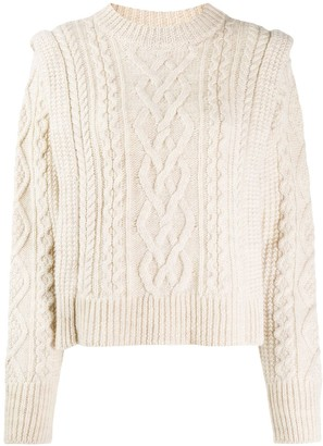 Etoile Isabel Marant Tayle cable-knit jumper