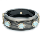 Alexis Bittar Liquid Silk and Stone Hinge Bracelet