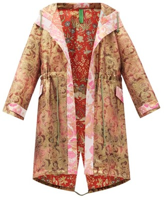 RIANNA + NINA Vintage Silk-brocade Hooded Coat - Multi