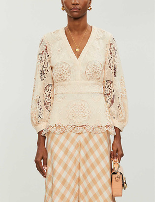 Maje Floral lace top