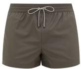 Dolce & Gabbana Logo-embroidered High-cut Swim Shorts - Mens - Grey