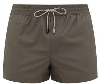 Dolce & Gabbana Logo-embroidered High-cut Swim Shorts - Grey