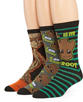 Marvel Guardians of the Galaxy Groot 3-pk. Crew Socks