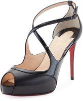 Christian Louboutin Mira Bella Leather Red Sole Sandal, Black