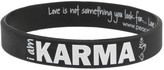 Peace Love World I am Karma Black Classic Silicone Bracelet