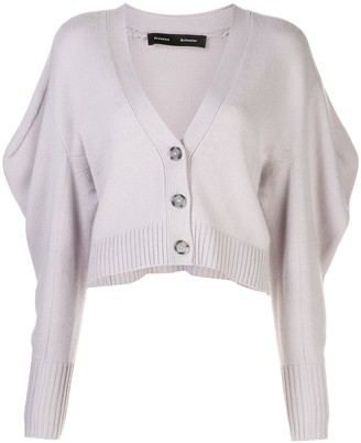 Proenza Schouler Draped Sleeve Cropped Cardigan