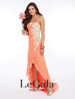 Mon Cheri La Gala Prom by Mon Cheri - 116506 Long Dress In Orange