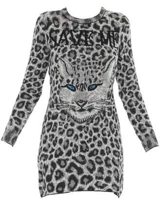 Alberta Ferretti Animalier Long Sleeved Dress