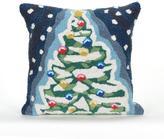 "Liora Manne Christmas Tree 18"" Square Pillow"