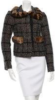Dolce & Gabbana Wool-Blend Fur-Trimmed Jacket