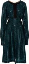 Diane von Furstenberg Paisley Open Slit Dress