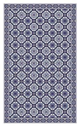 Camilla And Marc Huella Deco h1008-ca-xs Azulejos Rug Carpet Mat Floor, Vinyl, 57 x 96 cm