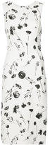 Oscar de la Renta cherry print midi dress - women - Nylon/Virgin Wool - 8