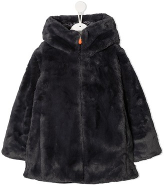 Save The Duck Kids Faux Fur Hooded Jacket