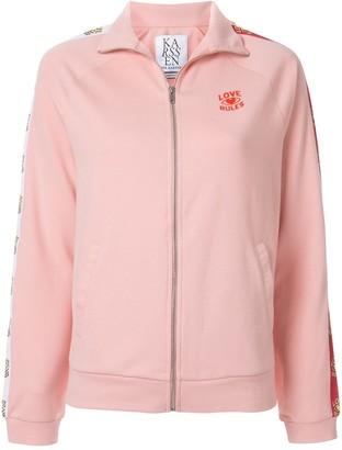 Zoe Karssen Love Rules zipped-up jacket