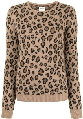 KHAITE Leopard Pattern Jumper