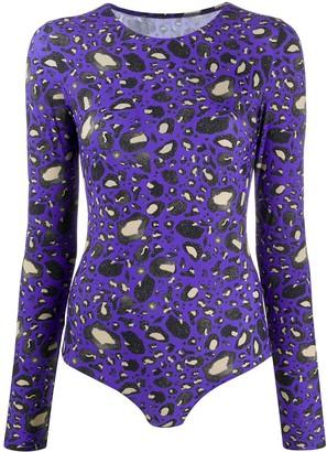 MM6 MAISON MARGIELA Leopard Print Bodysuit