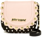 Betsey Johnson Scallop Faux Leather Flap Crossbody