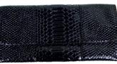 Urban Expressions - Women's Black Snakeskin Envelope Clutch