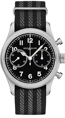 Montblanc 1858 Stainless Steel & Nato Strap Automatic Chronograph Watch