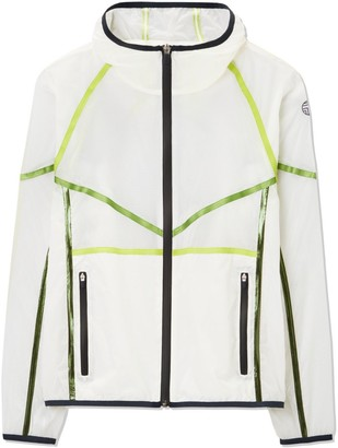 Tory Burch Ripstop Contrast-Tape Hooded Jacket