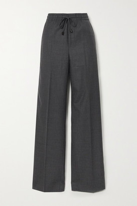 Maison Margiela Wool-blend Flannel Wide-leg Pants - Dark gray