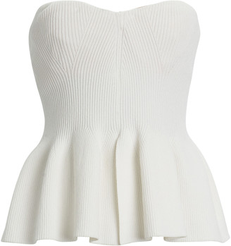 Philosophy di Lorenzo Serafini Strapless Peplum Knit Top