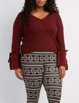 Charlotte Russe Plus Size High-Waisted Printed Leggings