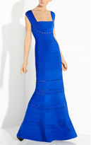 Herve Leger Georgianna Scallop Embroidered Gown