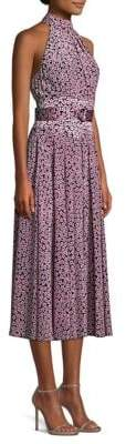 Diane von Furstenberg Floral Silk Halterneck Dress