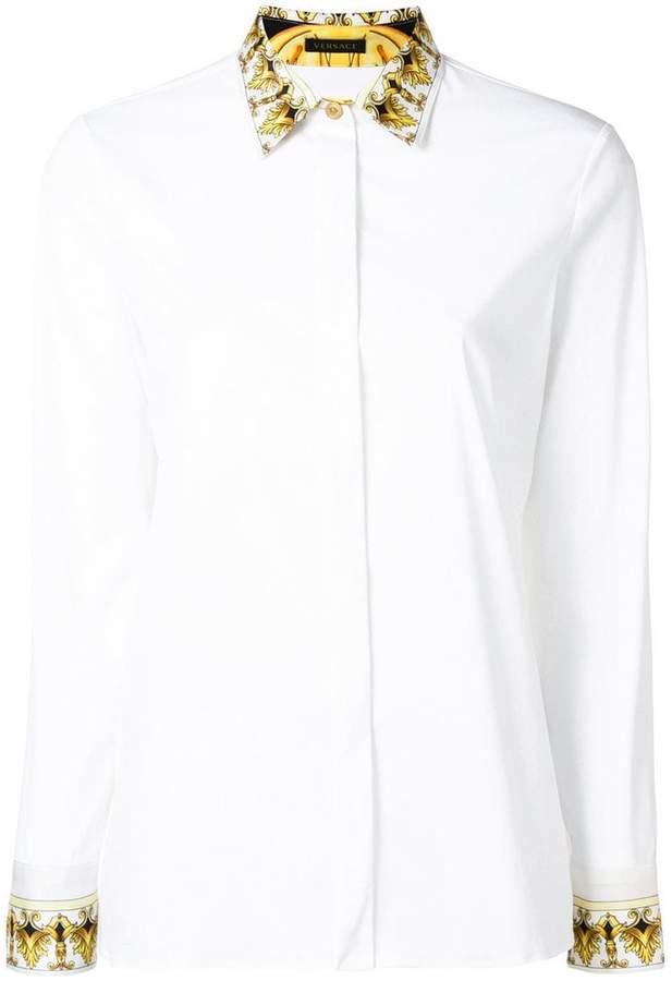 Versace Barocco collar print shirt