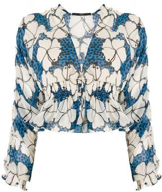 Eva silk Hibiscus blouse