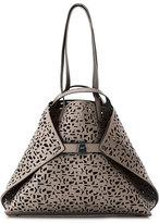 Akris Ai Medium Laser-Cut Leather Shoulder Bag