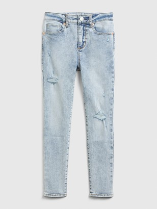 Gap Kids High Rise Ankle Distressed Jeggings with Max Stretch