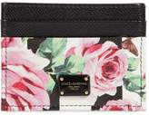 Dolce & Gabbana Rose Printed Leather Card Holder