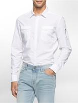 Calvin Klein Slim Fit Garment Dyed Aviator Shirt