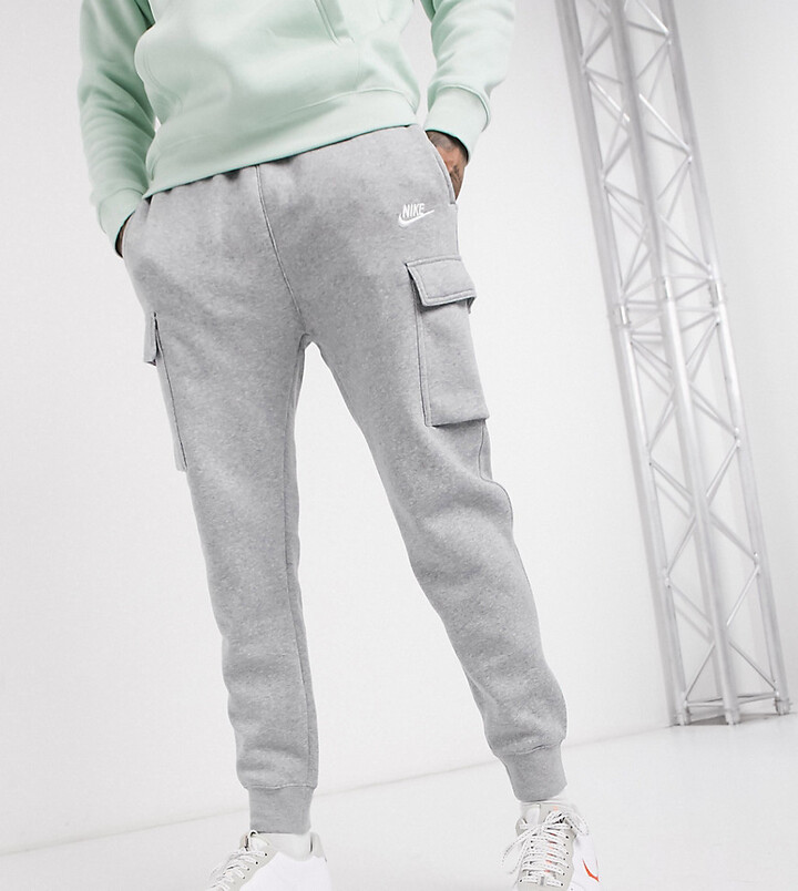 Nike Club Tall cuffed cargo joggers in grey