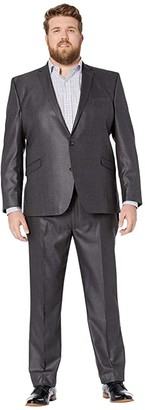 Kenneth Cole Reaction Big Tall Techni-Cole Open Bottom Suits (Light Grey Basketweave) Men's Suits Sets