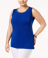 Belldini Plus Size High-Low Tunic