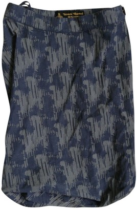 Vivienne Westwood Navy Cotton Skirt for Women