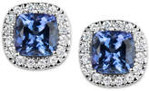 Macy's Tanzanite (1-1/5 ct. t.w.) and Diamond (1/6 ct. t.w.) Stud Earrings in 14k White Gold
