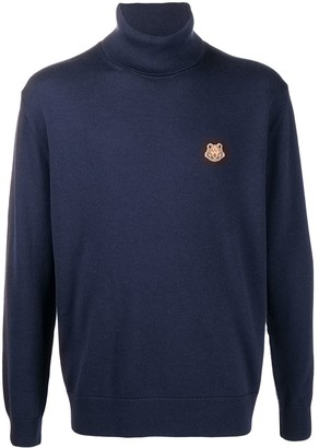 Kenzo Embroidered Tiger Patch Roll Neck Jumper