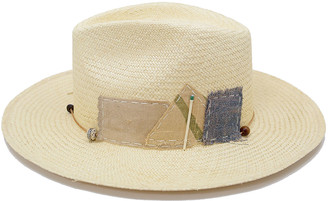 Nick Fouquet Sand Dollar Straw Fedora Hat