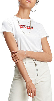 Levi's The Perfect Tee Box Tab White Graphic