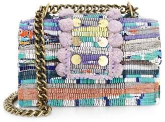 Kooreloo Large New Yorker Soho Pom-Pom Shoulder Bag
