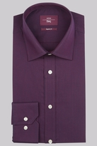 Moss Esq. Regular Fit Berry Single Cuff Stripe Non-Iron Shirt