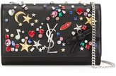 Saint Laurent embellished 'Monogram' chain wallet - women - Leather - One Size