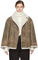 MM6 MAISON MARGIELA Brown Vintage Shearling Jacket