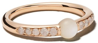 Pomellato 18kt rose gold M'ama non M'ama pearl and diamond ring